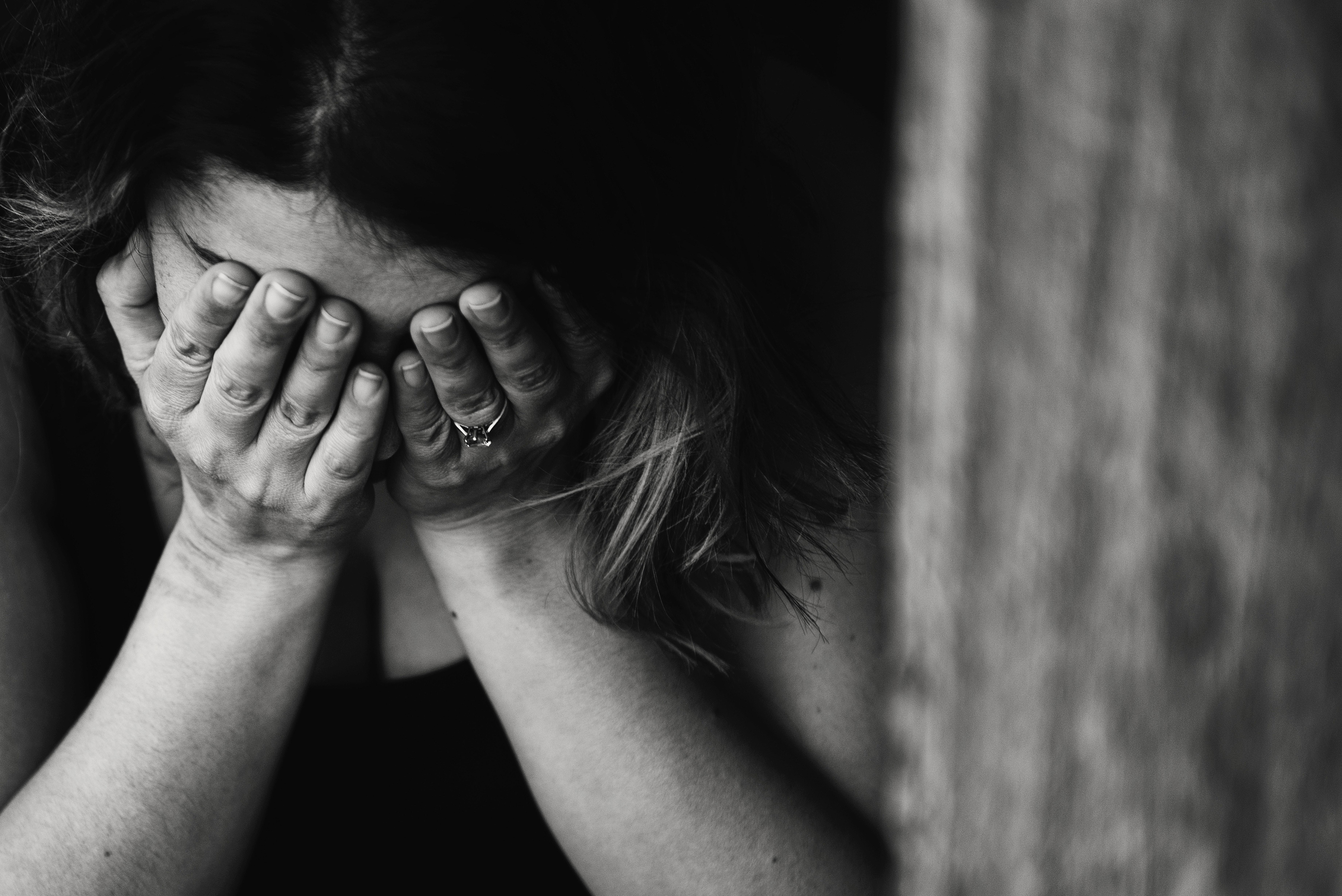broken woman feeling sad